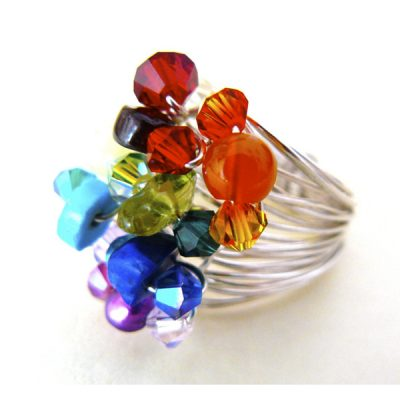 Rainbow Ring by Clare Mason