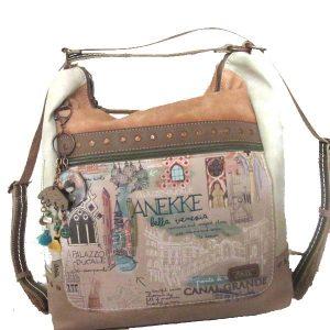 Beige Synthetic 1 Handle Bag