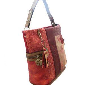Red Synthetic Shoulder Bag