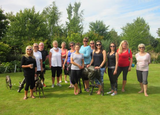 Yoga on the Lawn at Larch Cottage Nurseries