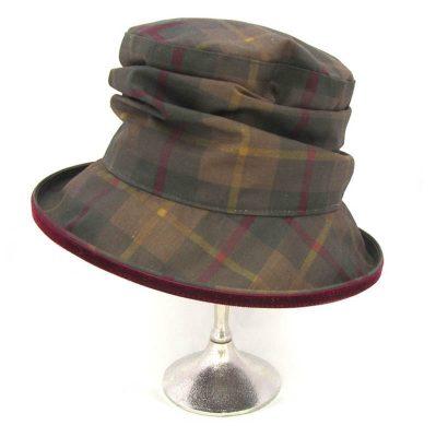 Bonnie tartan wax hat