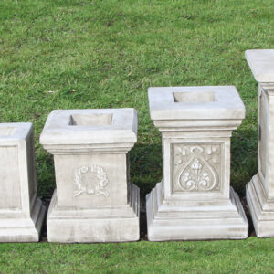 Small, Plain, Small Emblem, Classic, Tall plinth